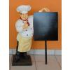 Szakács-táblával/ 75 cm/sárga kötényes-bajusz nélküli