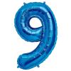Szám formájú óriás fólia lufi, kék 9