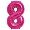 Szám formájú óriás fólia lufi, pink 8
