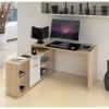 Számítógépasztal, sonoma tölgyfa/fehér, NOE NEW