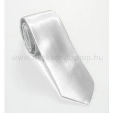 Szatén slim nyakkendõ - Fehér
