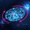 Szenzoros UFO játék, metálkék