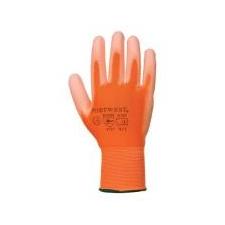 . Szerelőkesztyű, tenyéren mártott, 8-as méret, narancs védőkesztyű