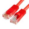 Szerelt patch kábel UTP Cat6 1 m PVC PIROS