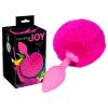 szexvital.hu Colorful JOY - anál dildó nyuszifarokkal (pink)