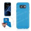 Szilikon védõ tok / hátlap - lyukacsos mintás - VILÁGOSKÉK - SAMSUNG SM-G955 Galaxy S8 Plus