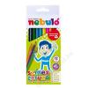 SZÍNES Színes ceruza készlet, háromszögletű,  NEBULÓ, 12 különböző szín (RNEBSZC12H)