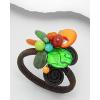 Színes virágos karkötő JADE és rekonstruált TÜRKIZ kővel  + AJÁNDÉK DÍSZTASAK