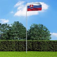 Szlovák zászló alumíniumrúddal 6 m dekoráció