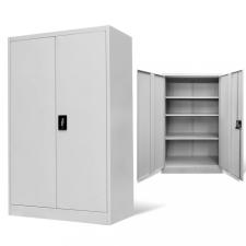 Szürke acél irodai szekrény 90 x 40 x 140 cm irodabútor