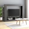 Szürke forgácslap TV-szekrény 152 x 22 x 113 cm