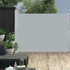 Szürke kihúzható oldalsó teraszi napellenző 140 x 500 cm kerti bútor
