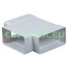 T-idom, KP75-26, négyszög keresztmetszetű légcsatornához, műanyag, 75 x 150 mm