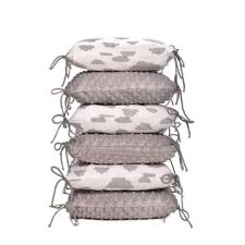 T-tomi rácsvédő párna, fehér / szürke felhők kismama párna