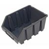 Tároló doboz, ergobox 3, közepes, 170×240×125mm, műanyag, fekete