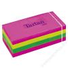 TARTAN Önatapadó jegyzettömb, 38x51 mm, 100 lap, 12 tömb/cs, TARTAN, vegyes neon színek (LPT5138N)
