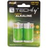 Techly alkalikus elem, 1.5V C R14, 2 darab