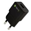 Techly hálózati töltő, Slim USB 5V 2.1A fekete