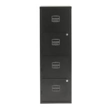 Tees egysoros fém A4-es irattartó szekrény, 4 fiók, antracit irattartó