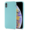 Telealk Iphone XR szilikon tok, mikroszálas szövet belső résszel, zöldeskék