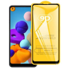 Telealk Samsung Galaxy A21 kijelzővédő üvegfólia (9H, 9D, fekete)