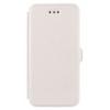 Telone Book Pocket oldalra nyíló fényes bőrbevonatos támasztós fliptok Microsoft Lumia 950-hez fehér*