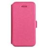 Telone Book Pocket oldalra nyíló fényes bőrbevonatos támasztós fliptok Microsoft Lumia 950 XL-hez pink*