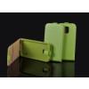 Telone Pocket Slim lefelé nyíló fényes bőrbevonatos fliptok Apple iPhone 6 4.7, 6S 4.7-hez zöld*