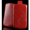 Telone Special Flower álló kihúzhatós bőrtok Apple iPhone 5 méret piros*