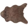 TEMPO KONDELA Műszőrme, szürke-barna-taupe/ezüst, 60x90, FOX TYP 4