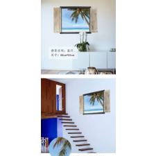 Tengerpartra néző falmatrica ablak matrica