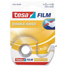 """Tesa Ragasztószalag, kétoldalas, adagolón, 12 mm x 7,5 m, TESA """"Tesafilm"""" ragasztószalag"""