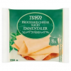Tesco szeletelt, zsíros, ömlesztett sajtkészítmény ementáli sajttal 8 db 150 g
