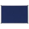 Textiltábla, 120x120 cm, alumínium keret, kék