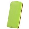 TFO Plus lefelé nyíló bőrbevonatos fliptok barna szövet belsővel Apple iPhone 6 4.7, 6S 4.7-hez zöld (GSM009381)*