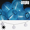 Th3 Party Napelemes Fényfüzér Fehér Lampionokkal 10 LED