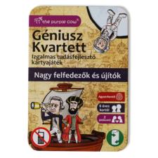 The Purple Cow Géniusz kvartett: Nagy felfedezők és újítók - ismeretterjesztő kártyák társasjáték