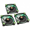 Thermaltake Riing 12 LED Green 3-Fan Pack, (CL-F055-PL12GR-A)