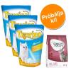 Tigerino Próbacsomag: 3 x 5 l Tigerino alom + 400 g Concept for Life - Tigerino + Sterilised Cats