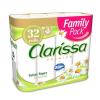 """. Toalettpapír, 3 rétegű, 32 tekercses, """"Clarissa"""", kamilla"""
