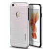 Tok, Motomo, szálcsiszolt aluminium hátlap, szilikon kerettel, Apple Iphone 7 / 8, ezüst