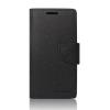 Tok, Telone Fancy oldalra nyíló flip tok, szilikon belsővel, Asus ZenFone 3 Laser ZC551KL, fekete, csomagolás nélküli