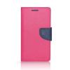 Tok, Telone Fancy oldalra nyíló flip tok, szilikon belsővel, Sony XZ, rózsaszín-kék, (szilikon belsővel), csomagolás nélküli