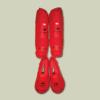 Tokaido Lábszárvédő, lábfejes, Tokaido, WKF, PU, piros