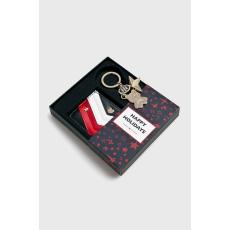 Tommy Hilfiger - Bőr pénztárca + brelok - sötétkék - 1443957-sötétkék