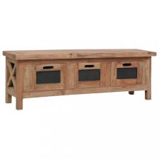 Tömör mahagóni TV-szekrény 3 fiókkal 120 x 30 x 40 cm bútor