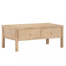 Tömör mangófa dohányzóasztal 100 x 50 x 45 cm bútor
