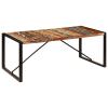 tömör újrahasznosított fa étkezőasztal 200 x 100 x 75 cm