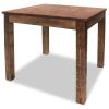 tömör újrahasznosított fa étkezőasztal 82 x 80 76 cm