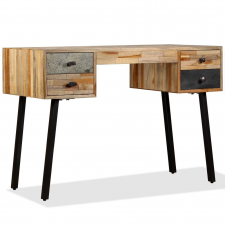 tömör újrahasznosított fa íróasztal 110 x 50 76 cm íróasztal